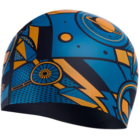 speedo Slogan Bonnet à motif Enfant, navy/mango/pool